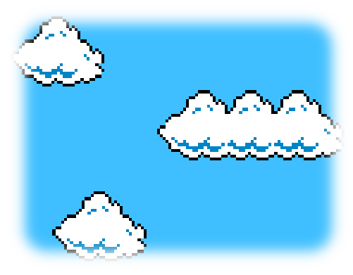 Mario clouds are bushes!